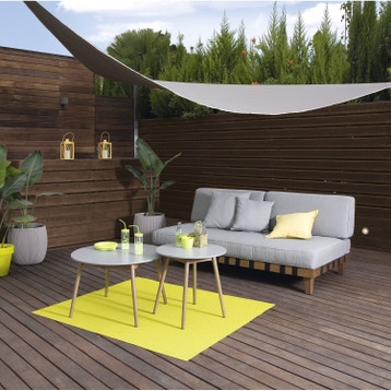 Voile d 39 ombrage toile tendue terrasse jardin au for Voile ombrage leroy merlin
