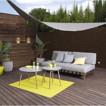 Voile d 39 ombrage toile tendue terrasse jardin au for Toile tendue exterieur