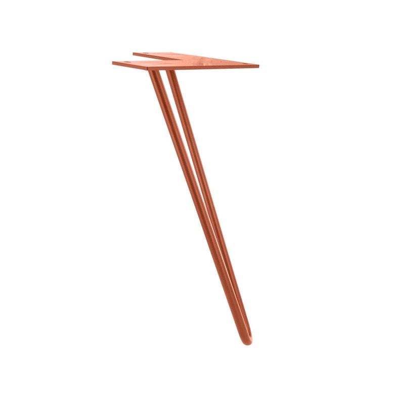 Pied De Table Basse Design Fixe Acier Cuivré Cuivre 30 Cm
