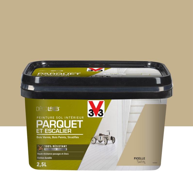 Peinture Sol Interieur Decolab Sol 100 Parquet V33 Beige Ficelle
