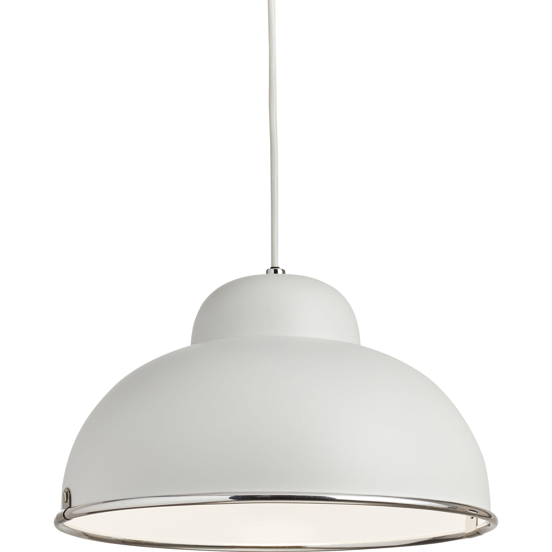 Suspension, E27 style industriel Farell métal blanc 1 INSPIRE