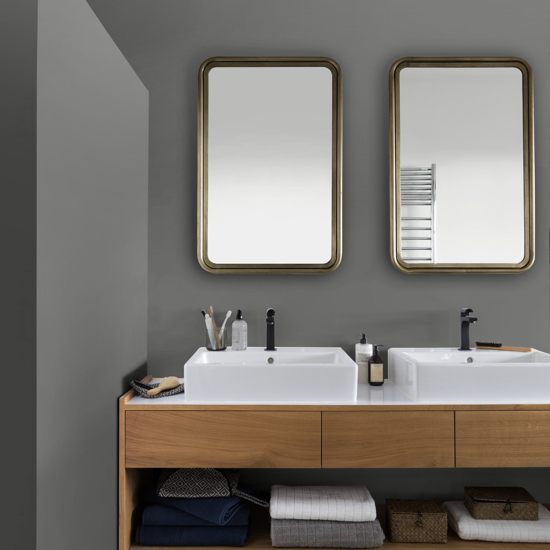 La peinture grise fait de l\'effet dans la salle de bains ...