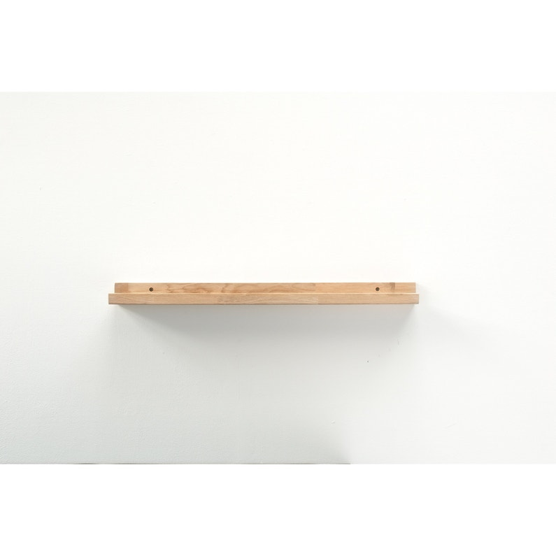 Etagère porte-cadres Mood chêne, L.80 x P.10 cm