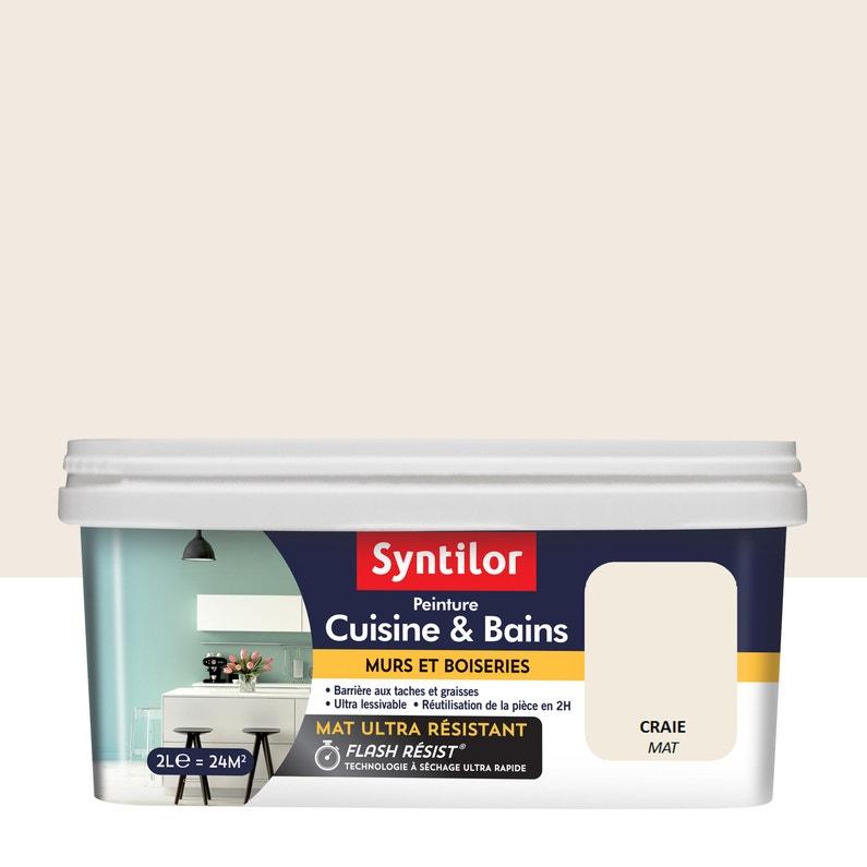Peinture Mur Cuisine Et Bains Syntilor Craie Mat 2 L