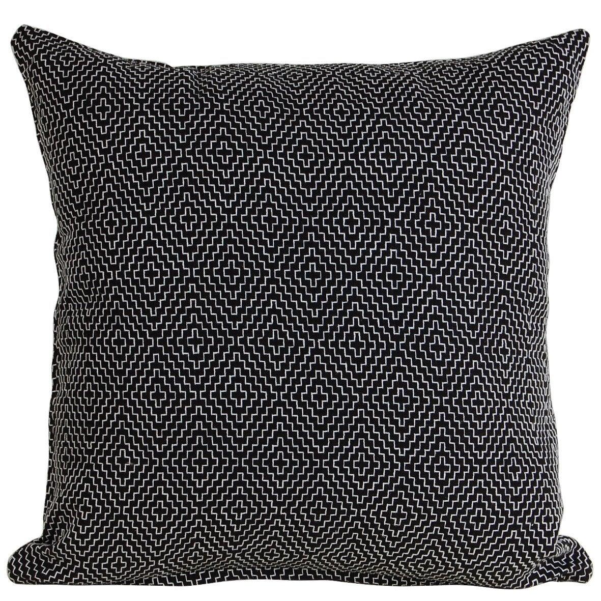Coussin Curtis INSPIRE, noir/blanc l.45 x H.45 cm