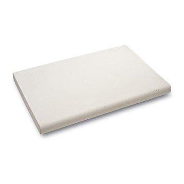 Margelle Océane en pierre reconstituée blanc cassé, L.50 x l.33 x Ep.3.4 cm