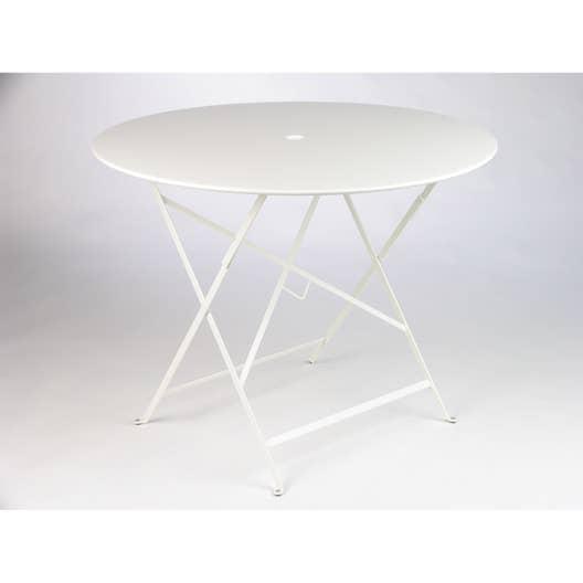 table de jardin fermob bistro ronde blanche 4 personnes. Black Bedroom Furniture Sets. Home Design Ideas