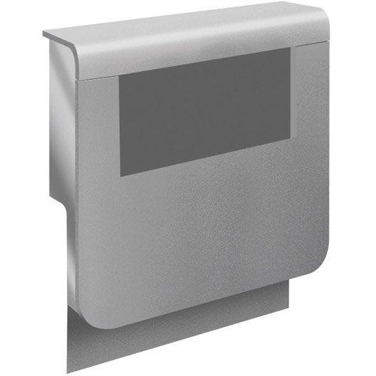 adaptateur aluminium pour plinthe h 19 x cm leroy merlin. Black Bedroom Furniture Sets. Home Design Ideas