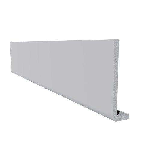 bandeau de rive de toiture fw2003bl.lm blanc pvc l.3 m x l.225 mm