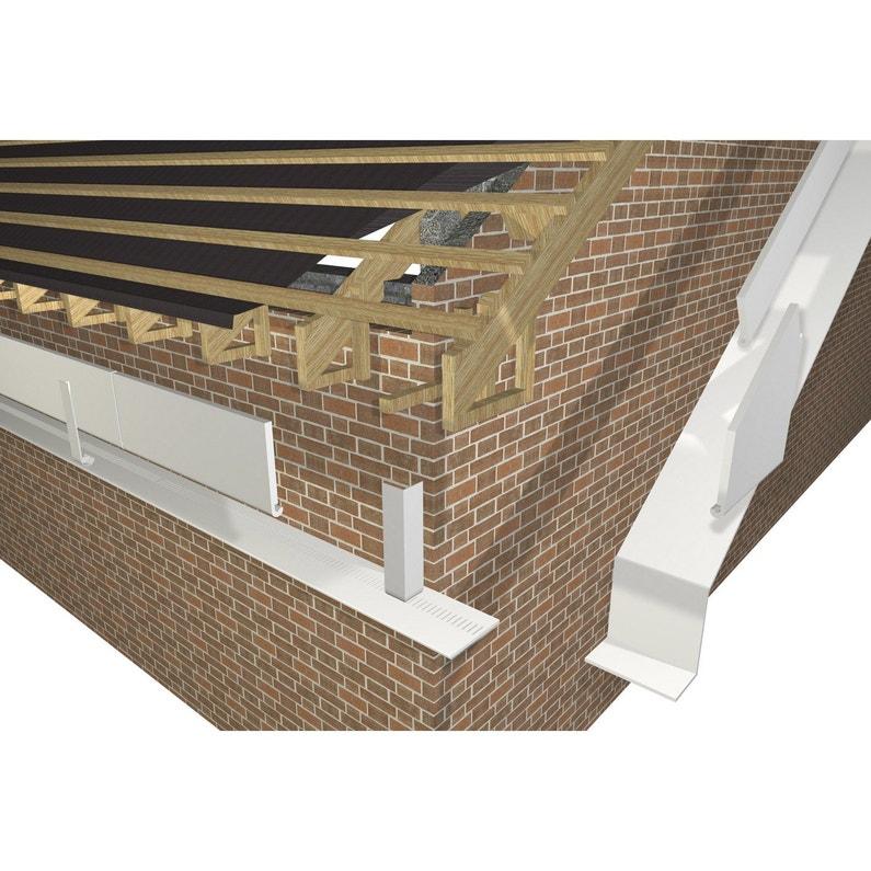 Bandeau de rive de toiture Fw2003bl.lm blanc pvc L.3 m x l.225 mm   Leroy Merlin