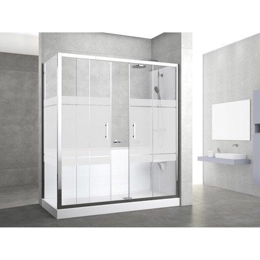 Kit de remplacement baignoire par douche entre 2 murs 160 x 70 cm elyt evolut - Devis remplacement baignoire ...