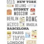 Sticker Worldtrip 48 cm x 65 cm
