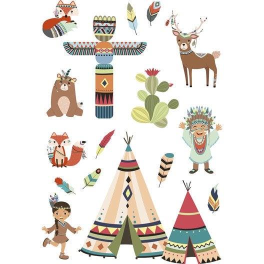 Sticker Indians 48 cm x 65 cm