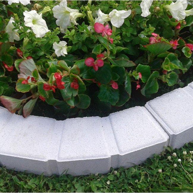 Bordure Courbe Seine Pierre Reconstituée Blanc H 7 5 X L 50 Cm