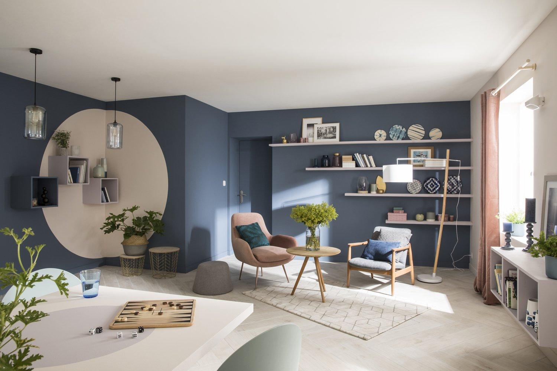 des dessins sur les murs avec la peinture murale leroy merlin. Black Bedroom Furniture Sets. Home Design Ideas