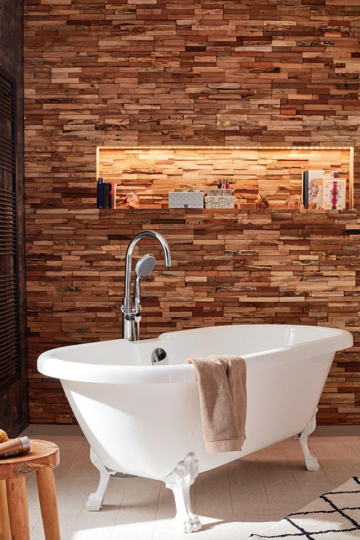 Salle De Bain Avec Baignoire salle de bains avec baignoire ilot et plaquettes de parement