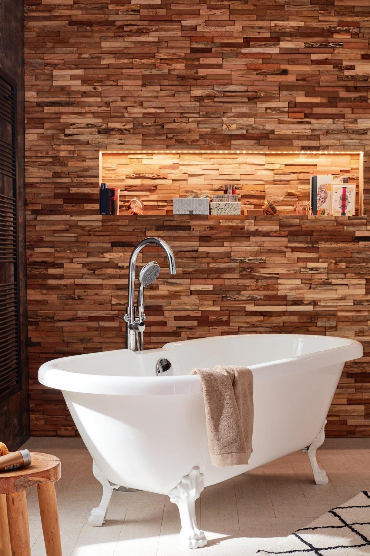 salle de bains avec baignoire ilot et plaquettes de. Black Bedroom Furniture Sets. Home Design Ideas