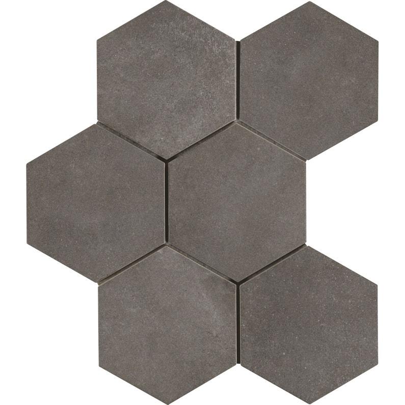 Carrelage Sol Et Mur Anthracite Effet Beton Time L 21 X L 18 Cm