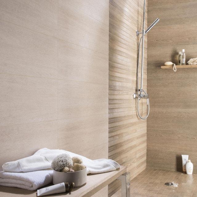 Carrelage naturel pour la salle de bains | Leroy Merlin