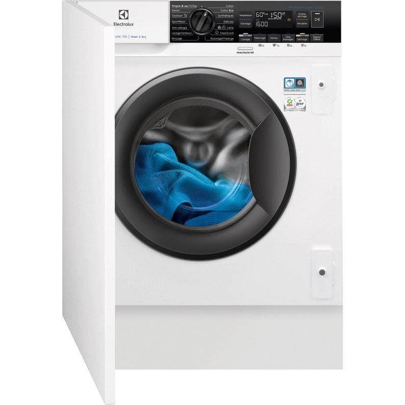 Lave Linge Séchant Encastrable Electrolux 8 Kg Ew7w3816bi Blanc