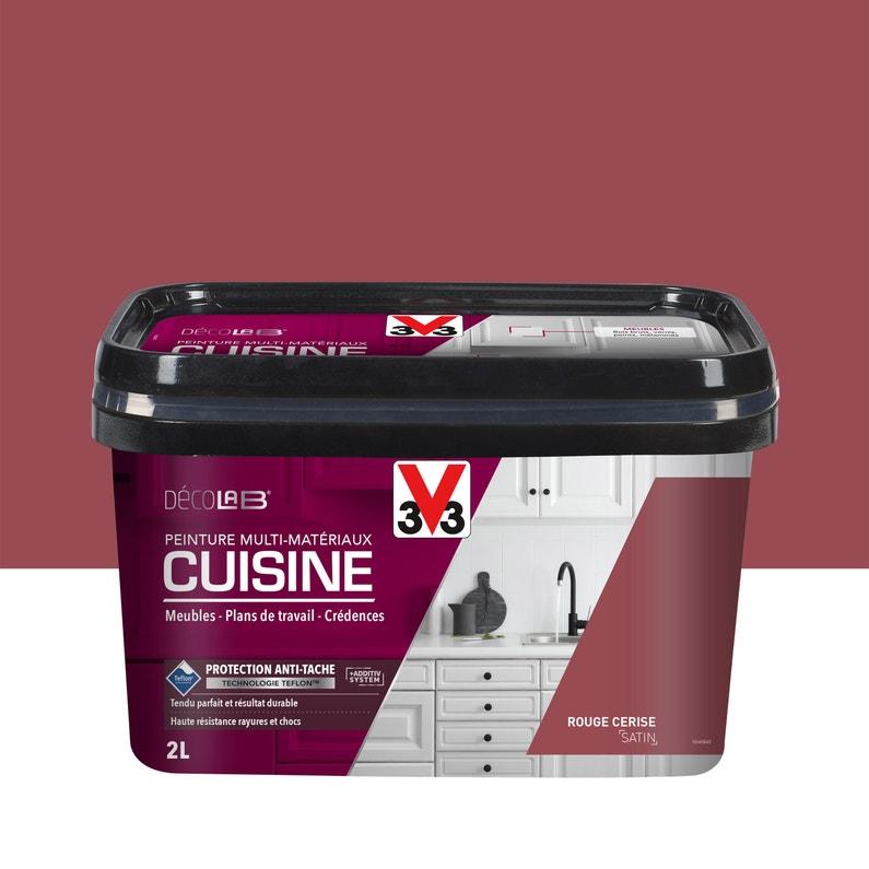 Peinture Cuisine Meuble Et Credence Decolab V33 Rouge Cerise
