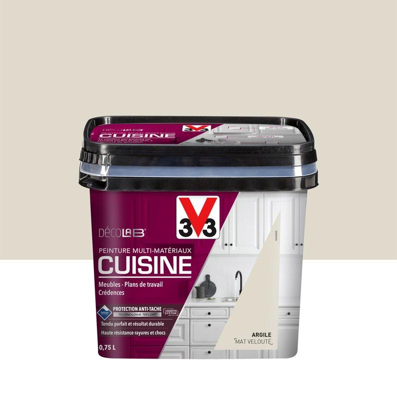 Peinture Mur Boiserie Radiateur Cuisine Meubles Crédences V33 Argile 0 75 L