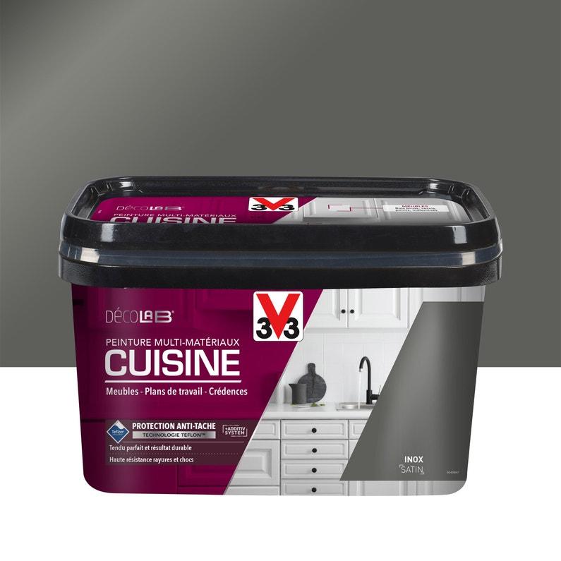 Peinture Cuisine Toute Surface Cuisine Meubles Crédences V33 Inox Satin 2 L L