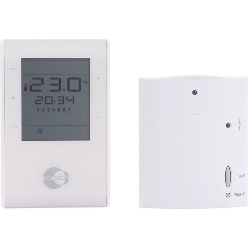 thermostat d 39 ambiance sans fil equation confort crono. Black Bedroom Furniture Sets. Home Design Ideas