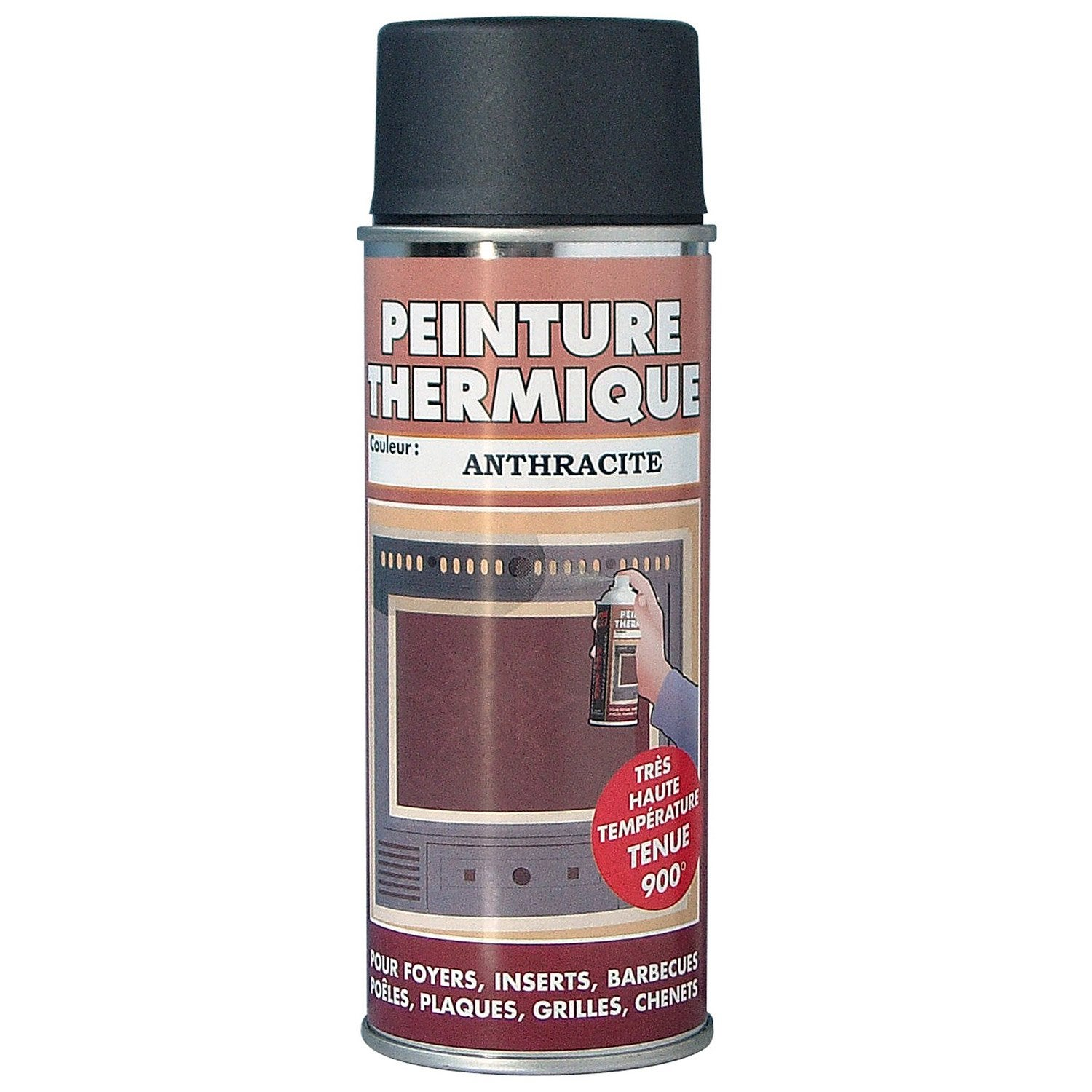peinture thermique anthracite pyrofeu a rosol de 400 ml leroy merlin. Black Bedroom Furniture Sets. Home Design Ideas