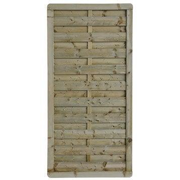 Panneau bois occultant Luxe, l.90 cm x h.180 cm, naturel