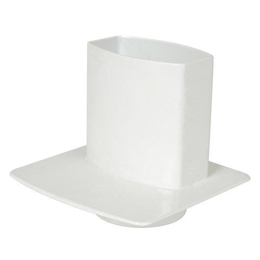 pied de chute pvc blanc girpi d cm mm leroy merlin. Black Bedroom Furniture Sets. Home Design Ideas