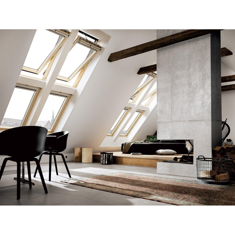 velux ggl sk08 tout confort integra par rotation x cm leroy merlin. Black Bedroom Furniture Sets. Home Design Ideas