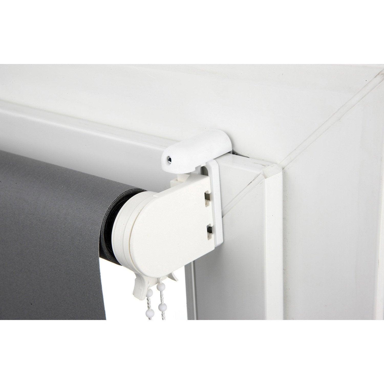 lot de 2 supports avec joint blanc pour tout type de store leroy merlin. Black Bedroom Furniture Sets. Home Design Ideas