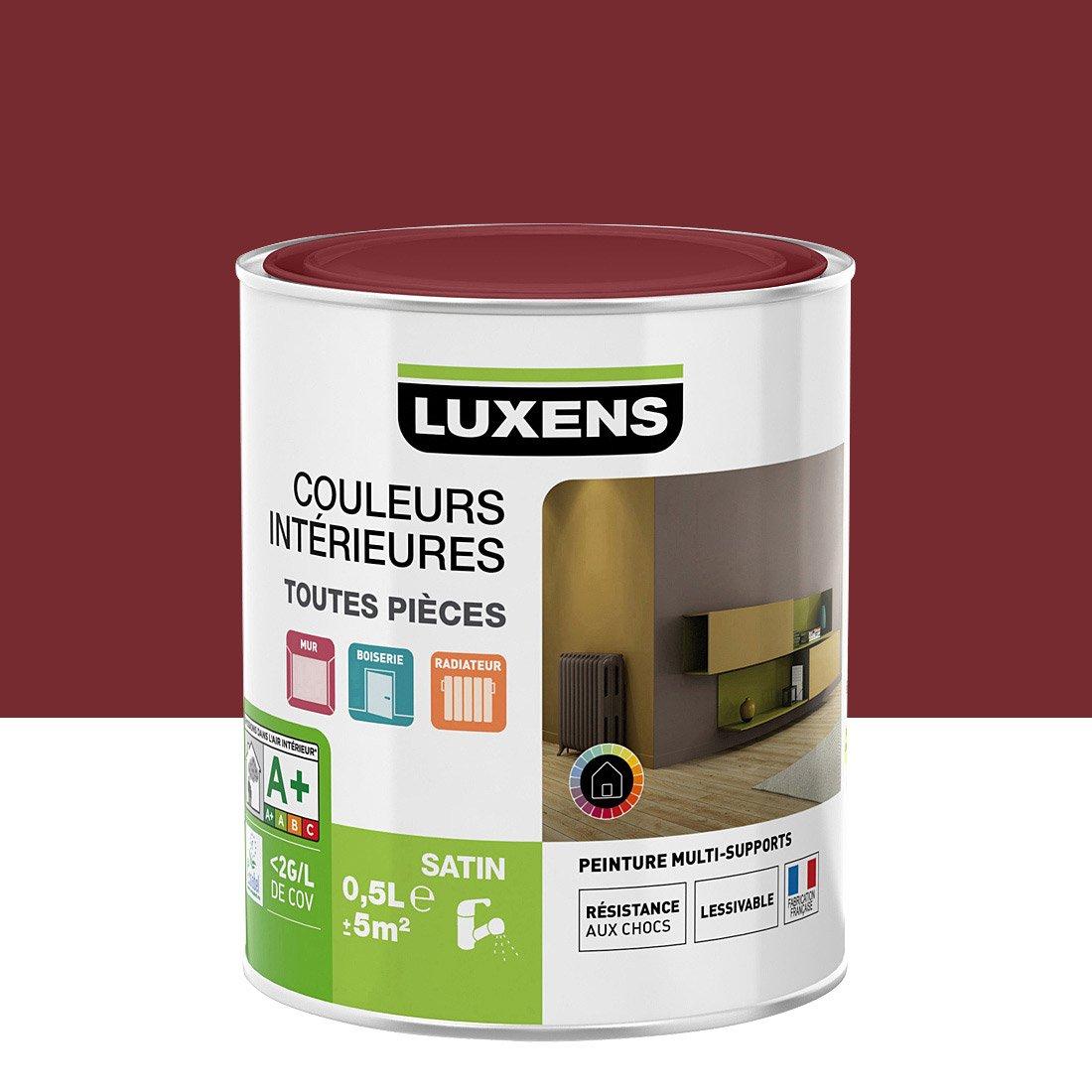 peinture rouge velours 2 satin luxens couleurs int rieures. Black Bedroom Furniture Sets. Home Design Ideas