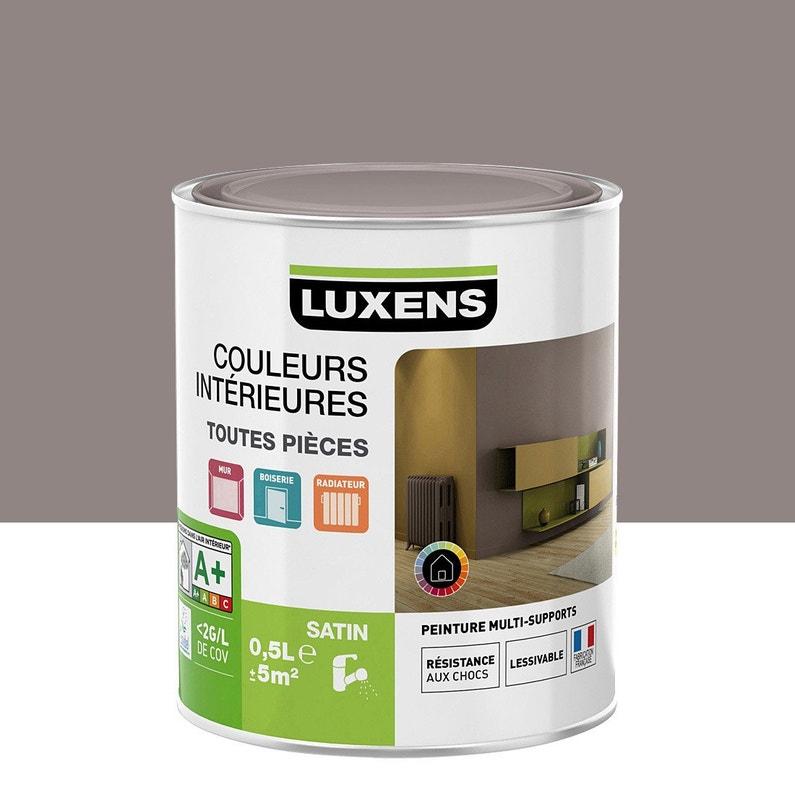 Peinture Couleur Taupe peinture brun taupe 4 satin luxens couleurs intérieures satin 0.5 l