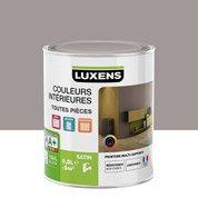 Peinture gris poivre 4 LUXENS Couleurs intérieures satin 0.5 l