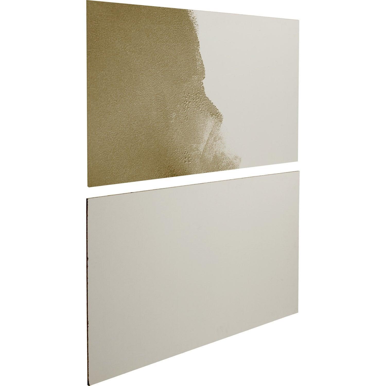 Lot de 2 panneaux blanc peindre spaceo leroy merlin - Peindre un meuble en panneau de particules ...