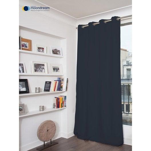 rideau occultant anti moustiques bleu marine x h. Black Bedroom Furniture Sets. Home Design Ideas