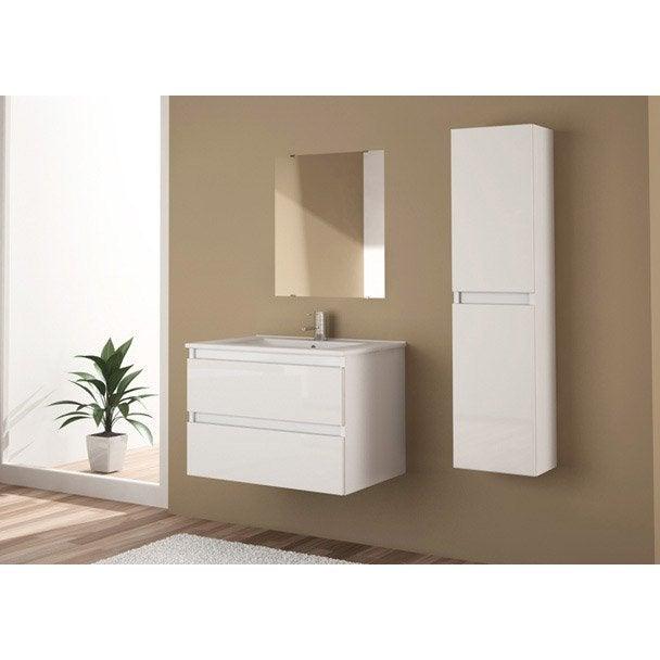 meuble sous vasque miroir x x cm snow leroy merlin. Black Bedroom Furniture Sets. Home Design Ideas