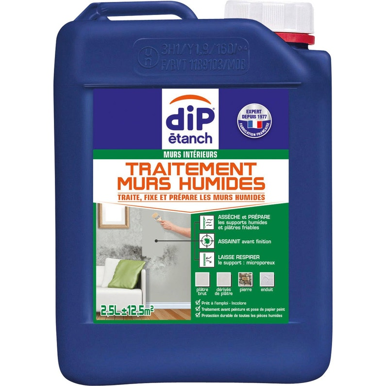 Traitement Mur Humide Dip Incolore 2 5 L