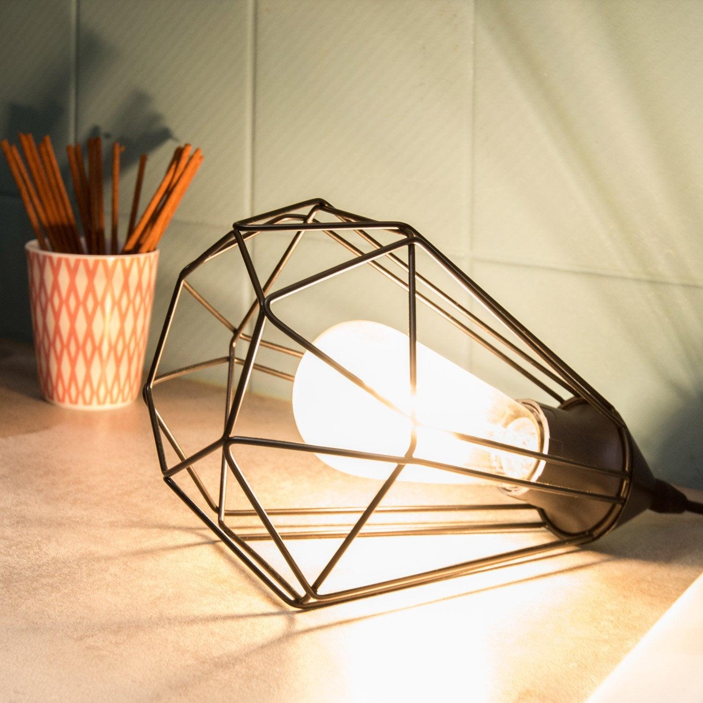 Lampe, e27 Tarbes EGLO, métal noir, 60 W