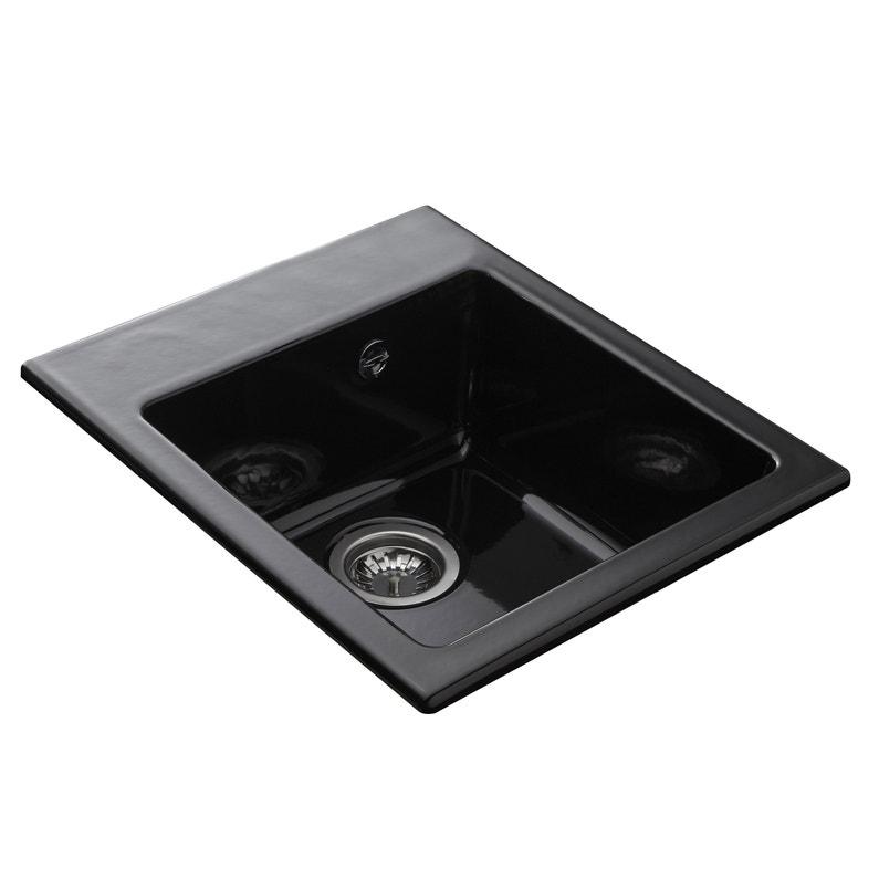 Evier A Encastrer Ceramique Noir 1 Cuve Leroy Merlin
