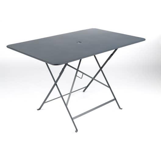 table de jardin fermob bistro rectangulaire gris orage 6. Black Bedroom Furniture Sets. Home Design Ideas