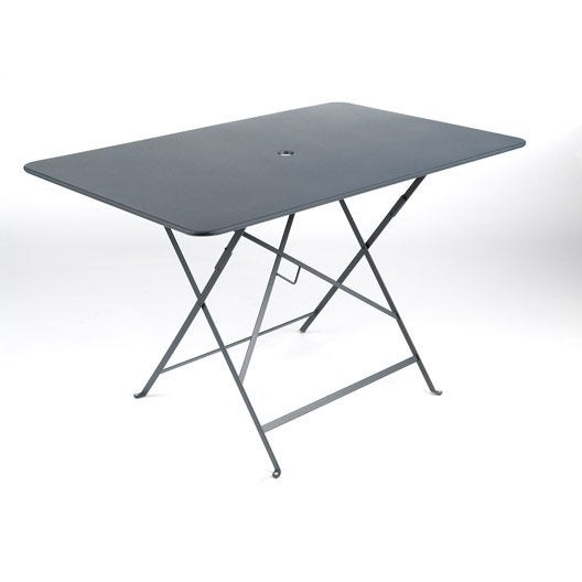 table de jardin fermob bistro rectangulaire gris orage 6 personnes - Table Pliante De Jardin Leroy Merlin