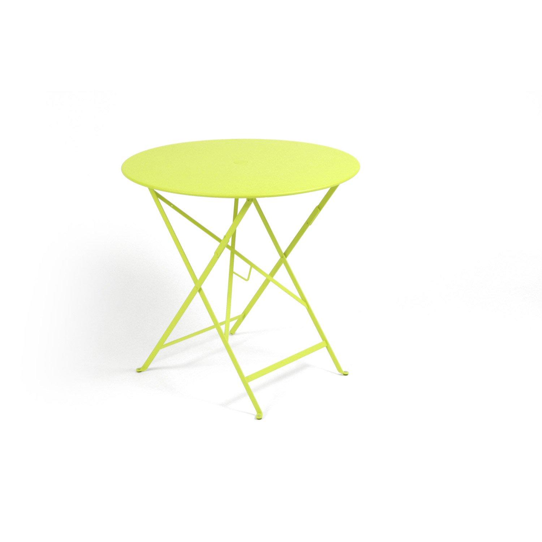 table de jardin fermob bistro ronde verveine leroy merlin. Black Bedroom Furniture Sets. Home Design Ideas