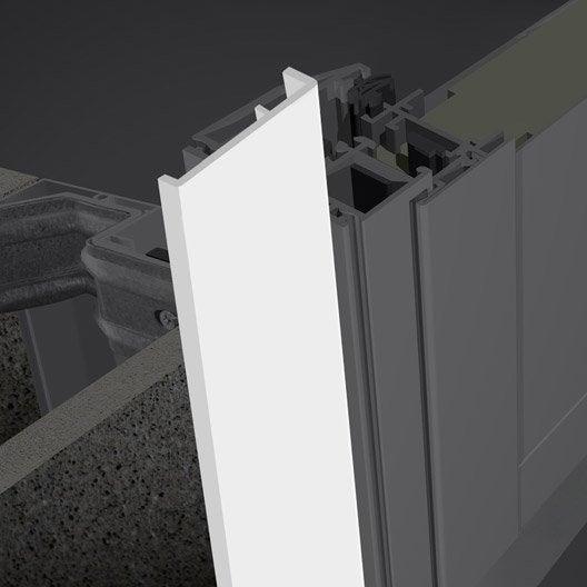 Profil int rieur pour porte d 39 entr e x cm aluminium primo leroy merlin - Montage porte d entree ...