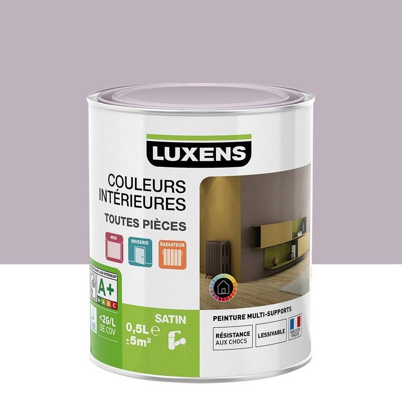 Peinture Violet Aubergine 6 Satin Luxens Couleurs Intérieures Satin 0 5 L
