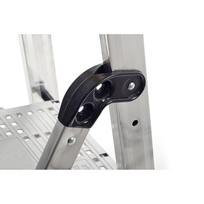 escabeau aluminium 10 marches utilisation intensive hailo leroy merlin. Black Bedroom Furniture Sets. Home Design Ideas