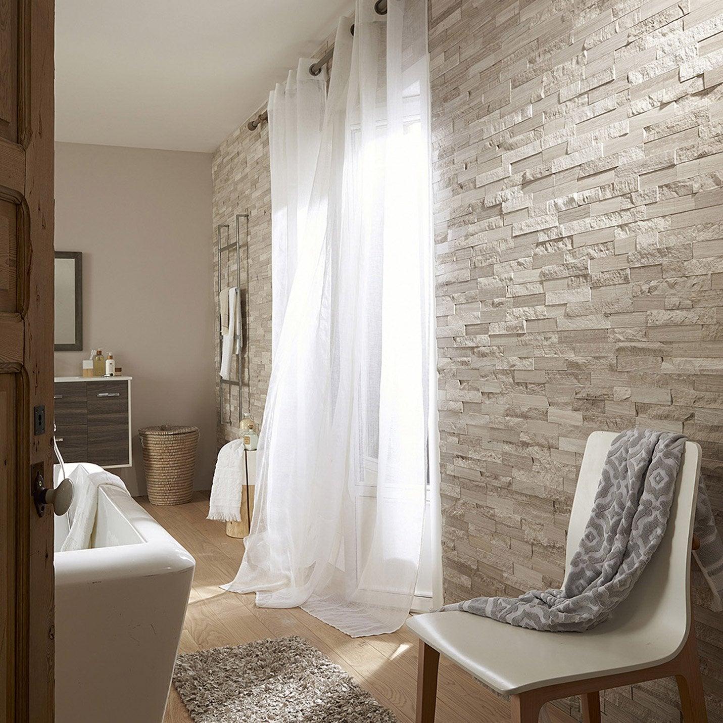 Plaquette de parement pierre naturelle gris beige for Parement gris exterieur