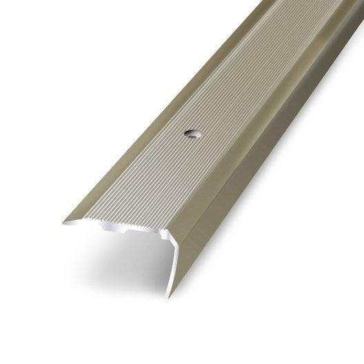 nez de marche aluminium anodis x l 3 6 cm leroy merlin. Black Bedroom Furniture Sets. Home Design Ideas